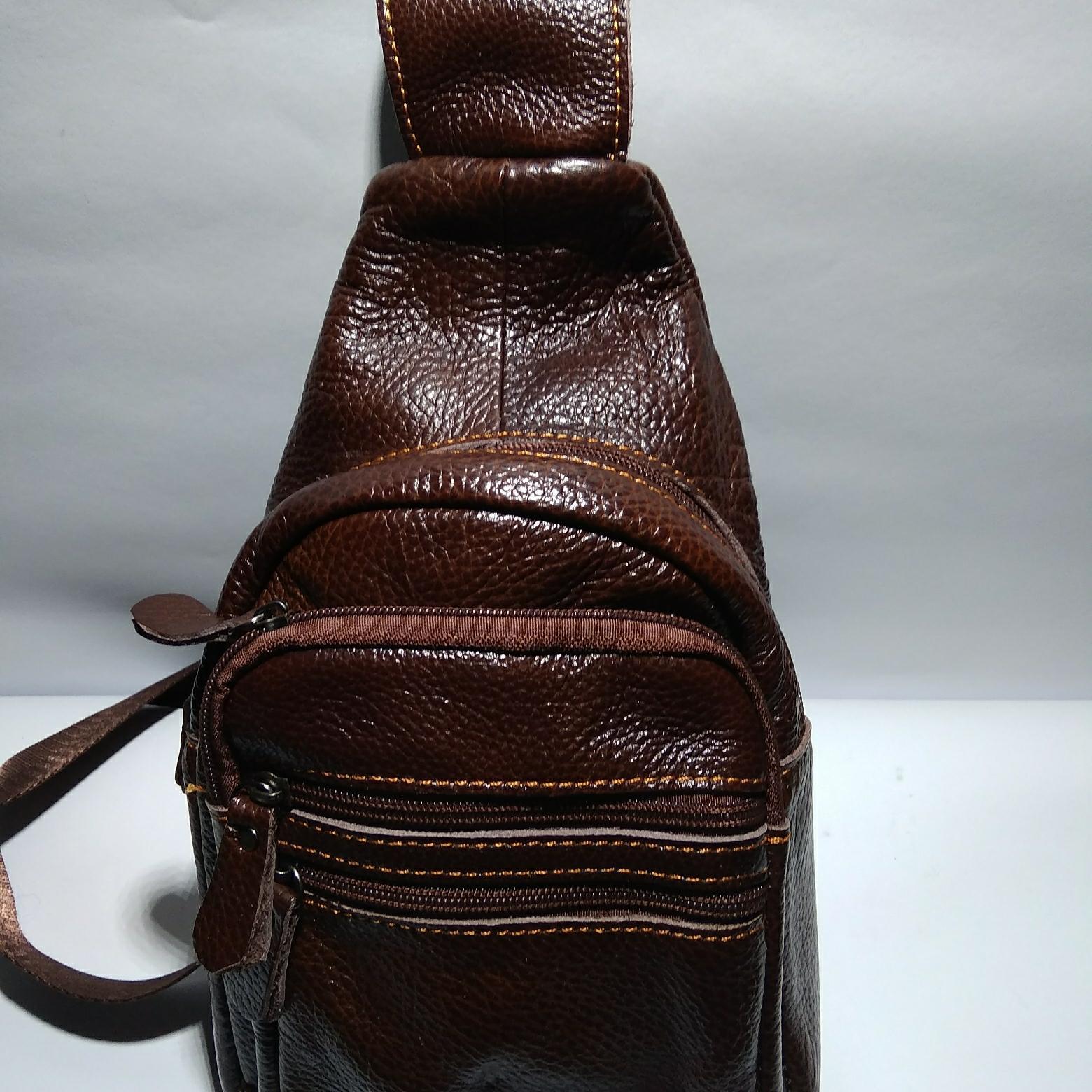 Detail Gambar Tas selempang pria/tas selempang kulit Terbaru