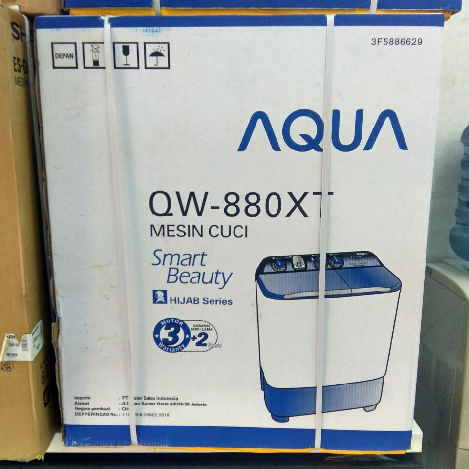 Kelebihan Aqua Qw 980xt Mesin Cuci 2 Tabung 9kg Jadetabek Only Qw980xt Putih Free Ongkir Jabodetabek Sanyo 755xt 7kg