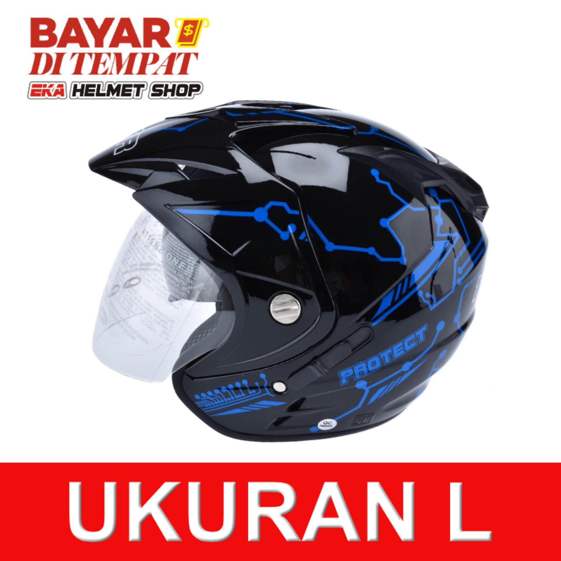 Harga Msr Helmet Impressive Protect Double Visor Hitam Biru Termahal