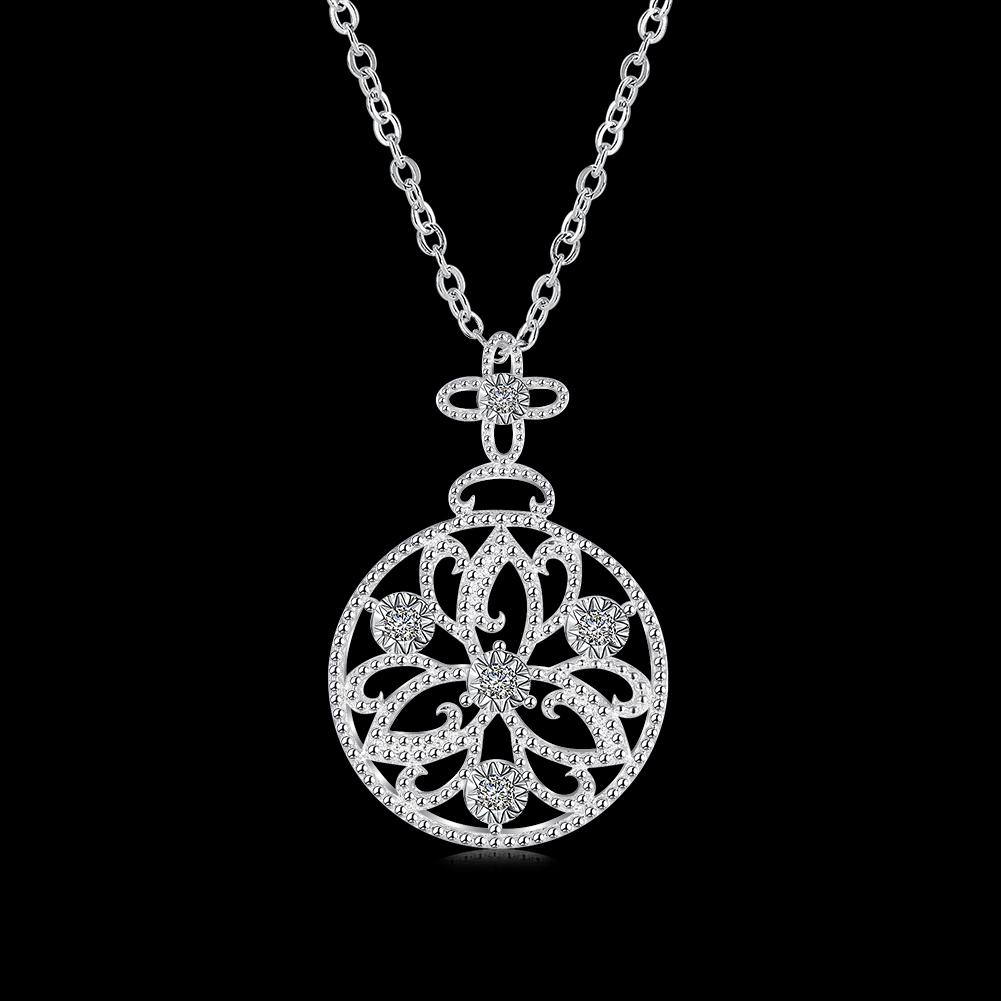 Fitur Lain Perhiasan Perak Liontin Berlian Lotus Melingkar Grosir 1 Set Detail Gambar Lknspcn891 Terkini