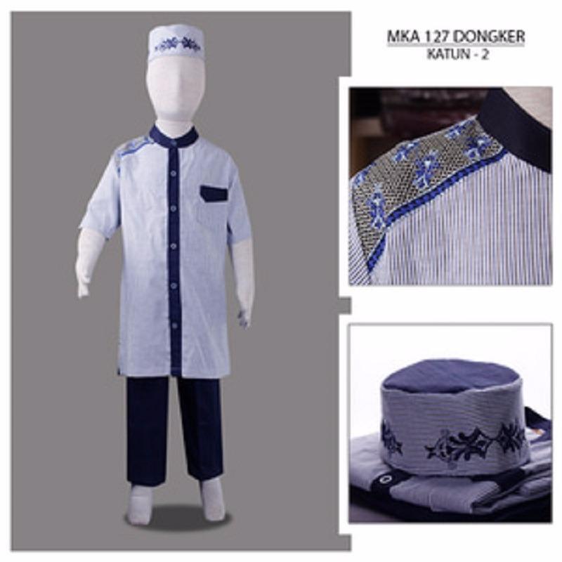 MKA127Dongker(2-4tahun) harga baju koko anak grosir jubah