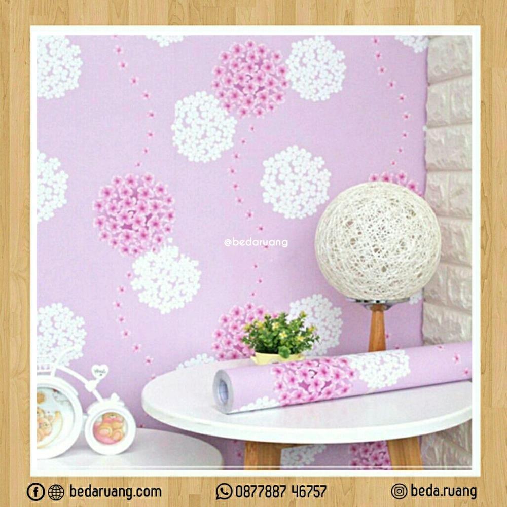 Beli Walpaper Dinding Motif Bunga Dandelion 45X10 Sticker Pakai Kartu Kredit