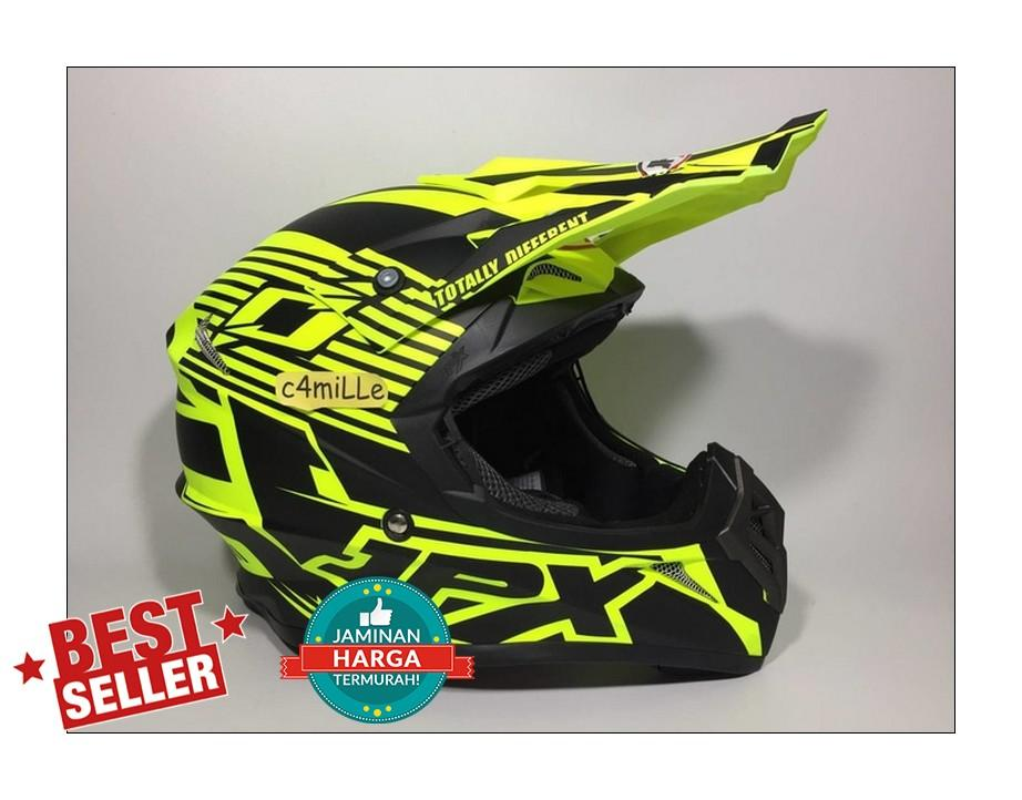 HELM JPX CROSS X12 YELLOW FLUO DOFF BLACK TRAIL SUPER CROSS