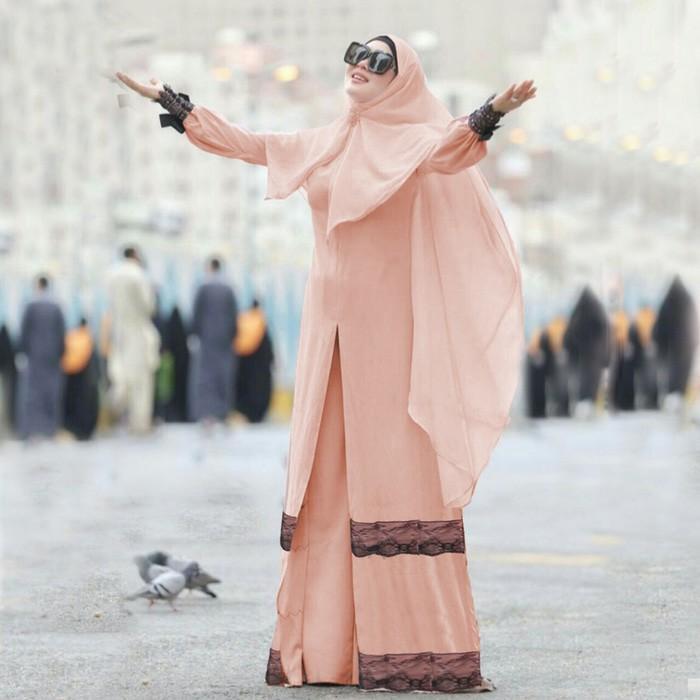 Promo Syari Syahrini Salem SW  Gamis Wanita Wolly Crepe Salem Berkualitas