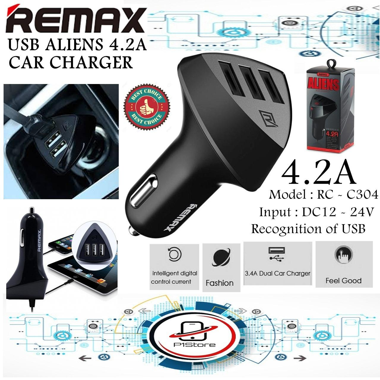 Cek Harga Baru Car Charger Remax Aliens 3usb Output Saver Mobil Usb For Tablet Smartphone Series 3 42a