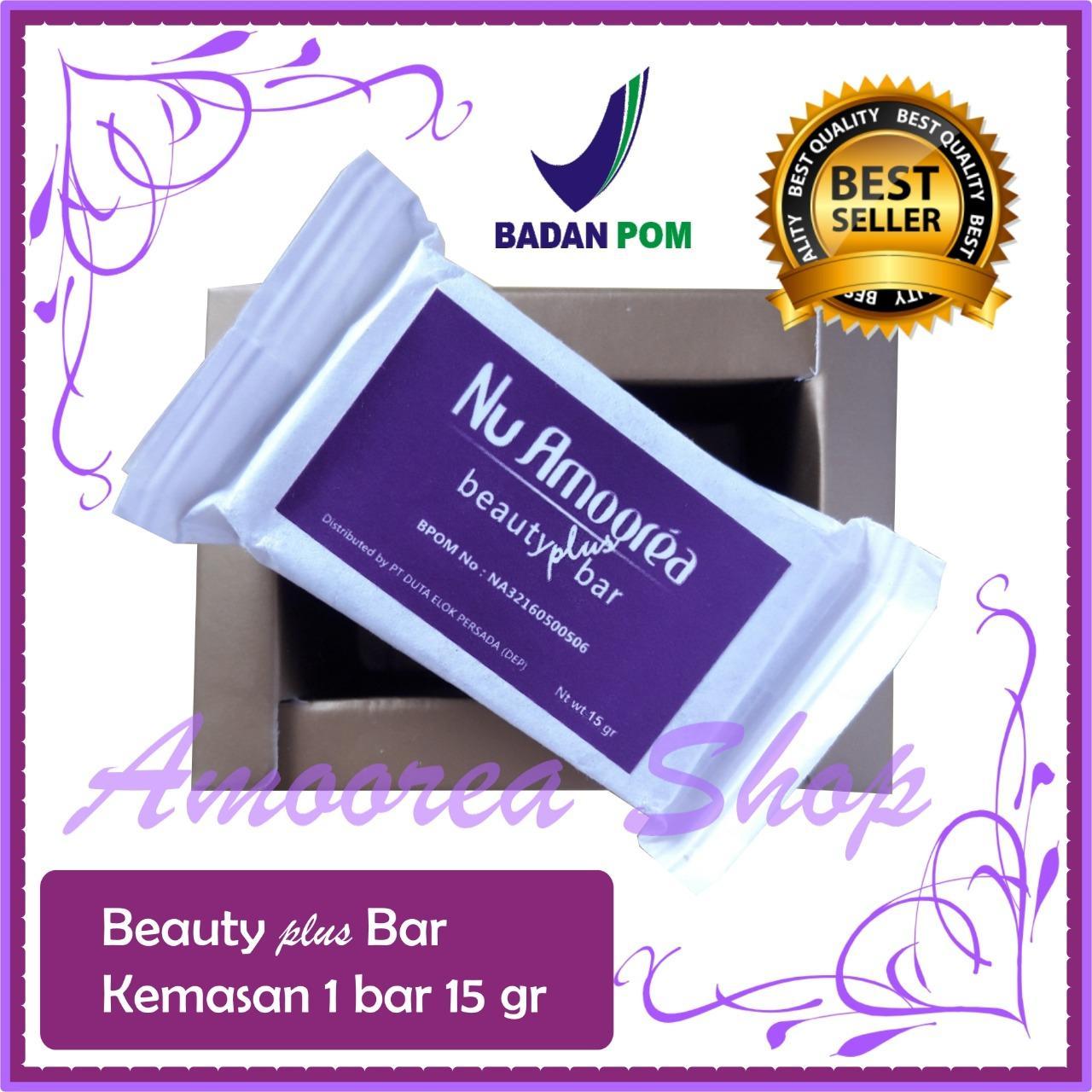 Sabun Amoorea / Beauty Plus Bar / Kemasan 15 gr / Obat Jerawat / Flek Hitam / Komedo / Sabun Cuci Muka / Original