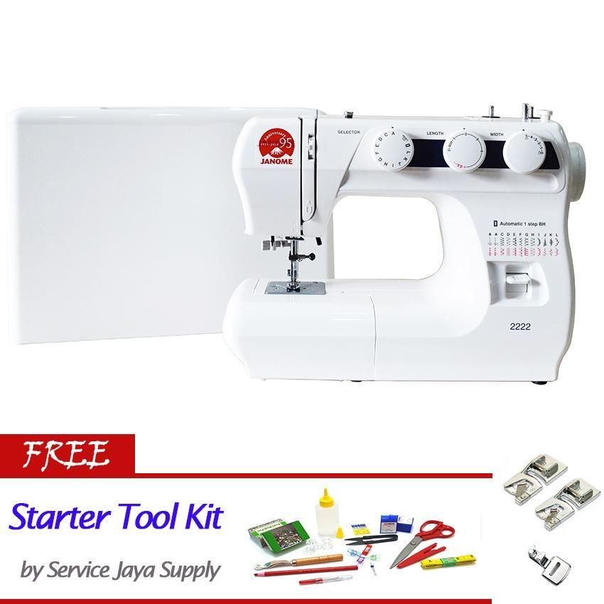 Spesifikasi Janome 2222 Mesin Jahit Portable Multifungsi Free Sjs Starter Kit Janome Terbaru
