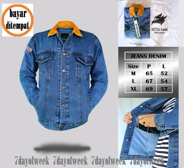 LJ - jaket jeans denim dilan 1990 biowash // HOT ITEM