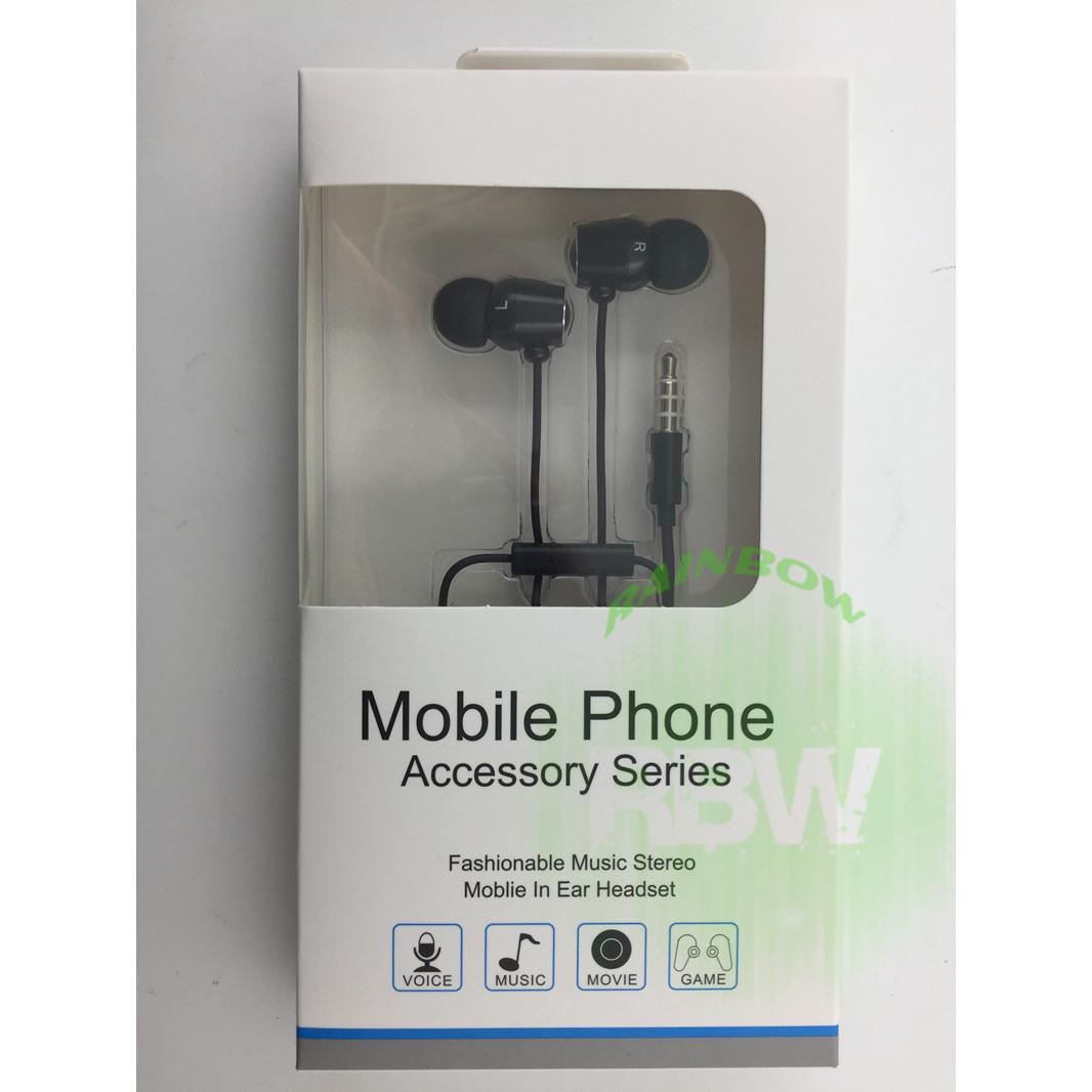 Asus Zenfone 2 ZenEar Series Stereo Handsfree With Mic & Volume Control / Headphone / Headset / Earphone Original - Hitam