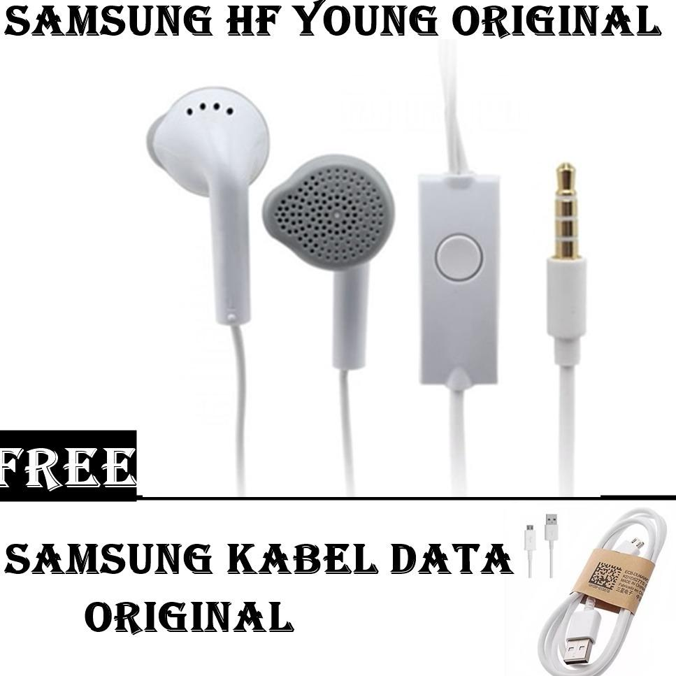 Samsung Handsfree/Headset Young For All Smartphone Original + FREE Samsung kabel data original