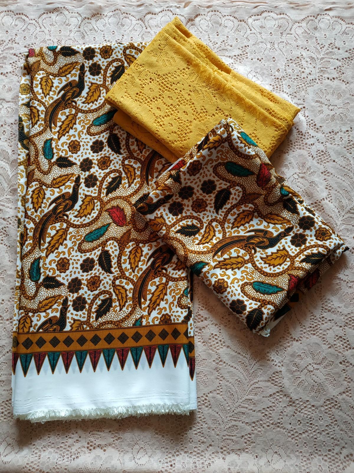 kanaya – setelan kain satin couple brokat lembaran uk. 1.5 mtr kebaya bali  bahan kebaya pesta kebaya wisuda kebaya kutu