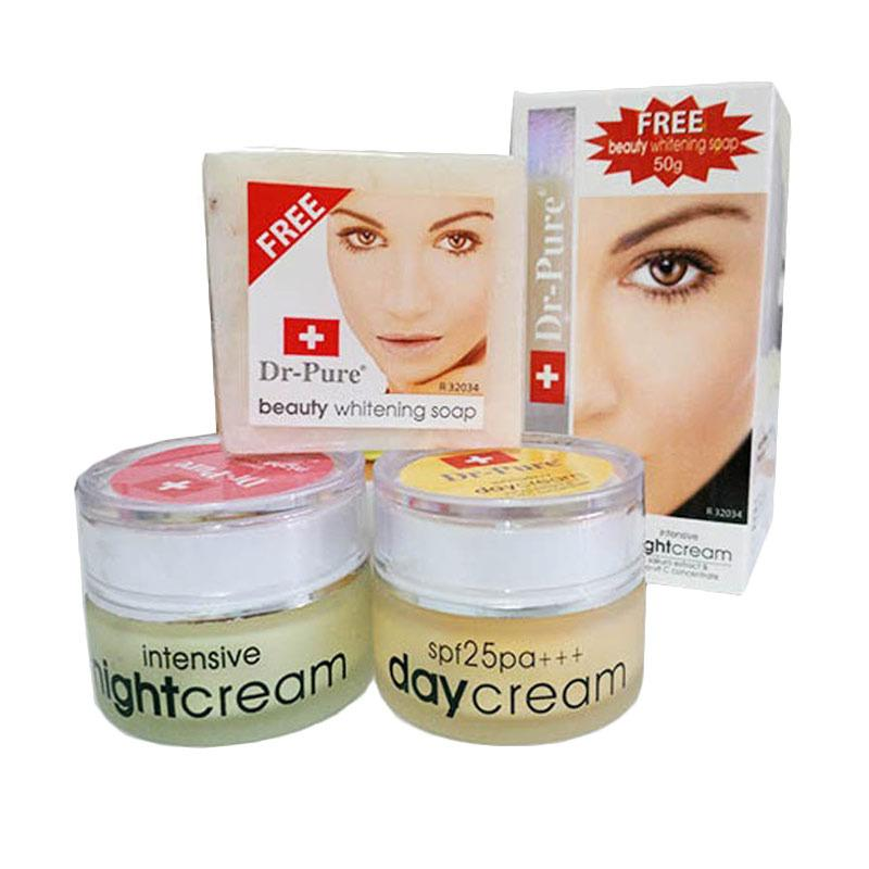 Dr  Pure Paket Cream Pemutih Original BPOM - Free Whithening Soap