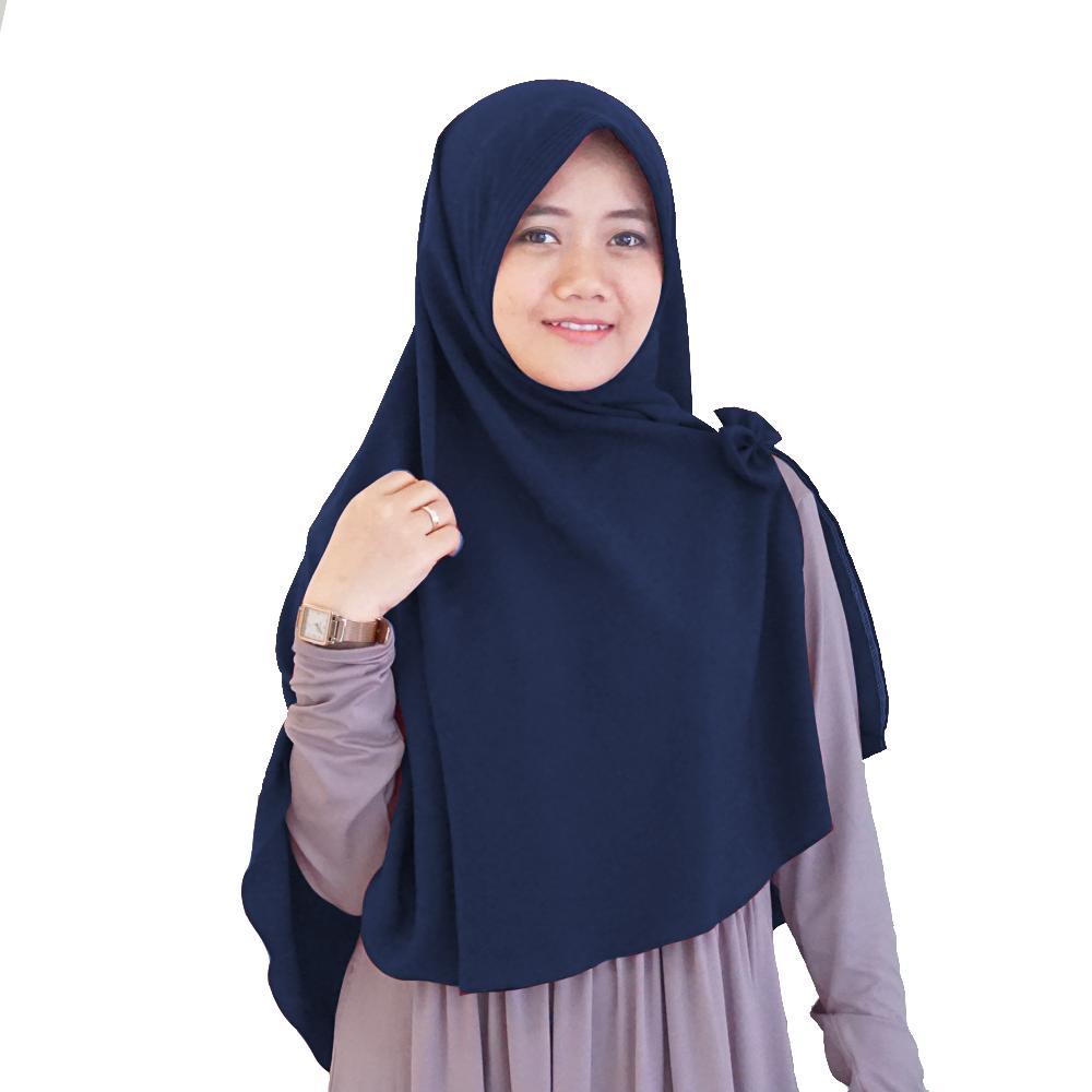 Maula Hijab Kerudung Jilbab Khimar Instan Syari Simple Pet Pita Murah