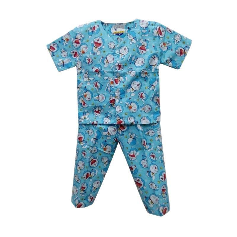 Baju Tidur Anak (Piyama) Motif Doraemon Untuk umur 5 - 12 Bulan