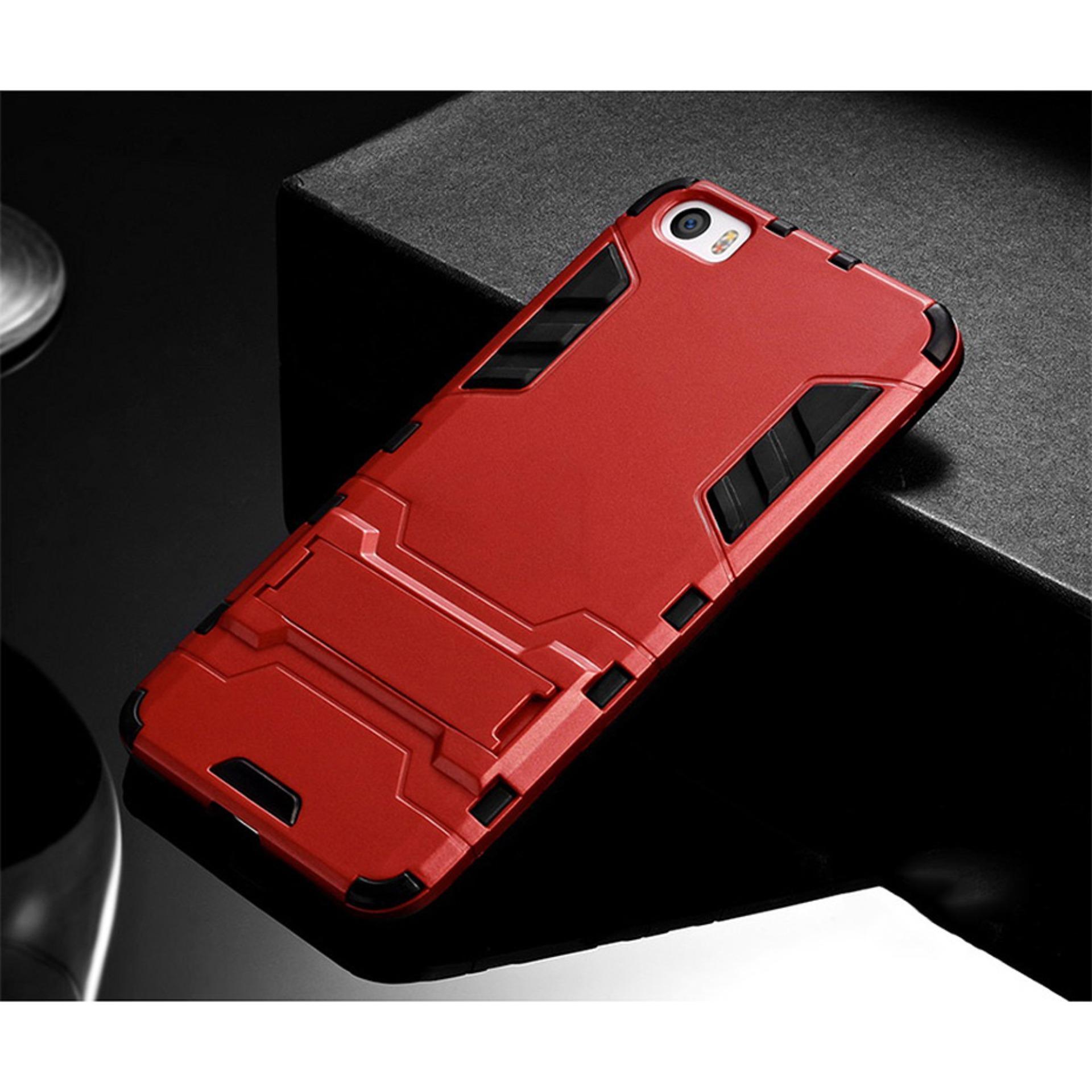Case Ironman Kickstand For Xiaomi Mi 5 Merah