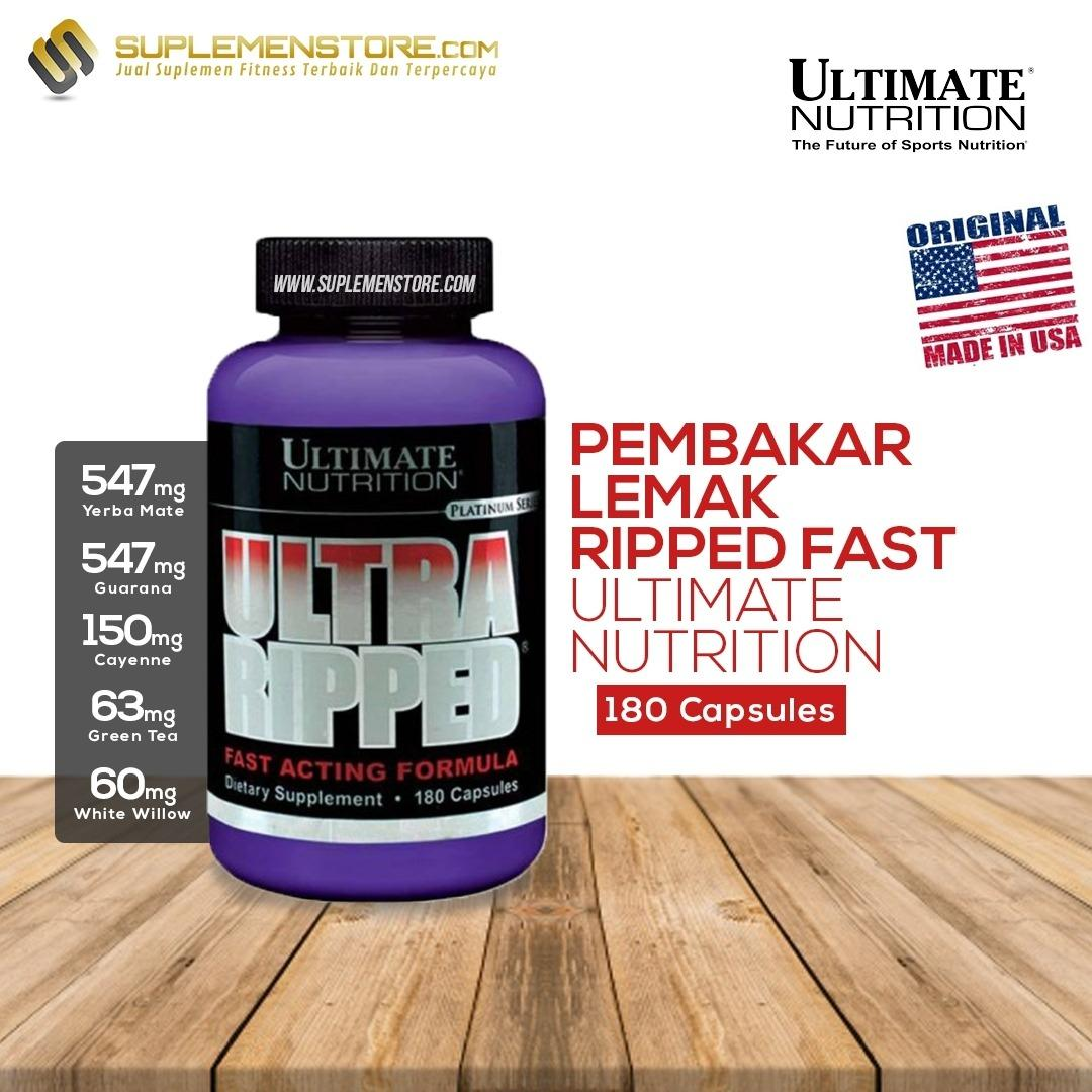 Spesifikasi Ultimate Nutrition Ultra Ripped Fast Acting Formula 180 Caps Dan Harganya