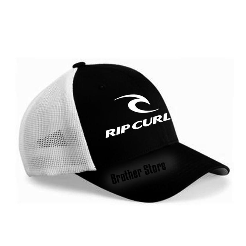 Topi Trucker Distro RIPCURL UK  White - Black Jaring White Premium