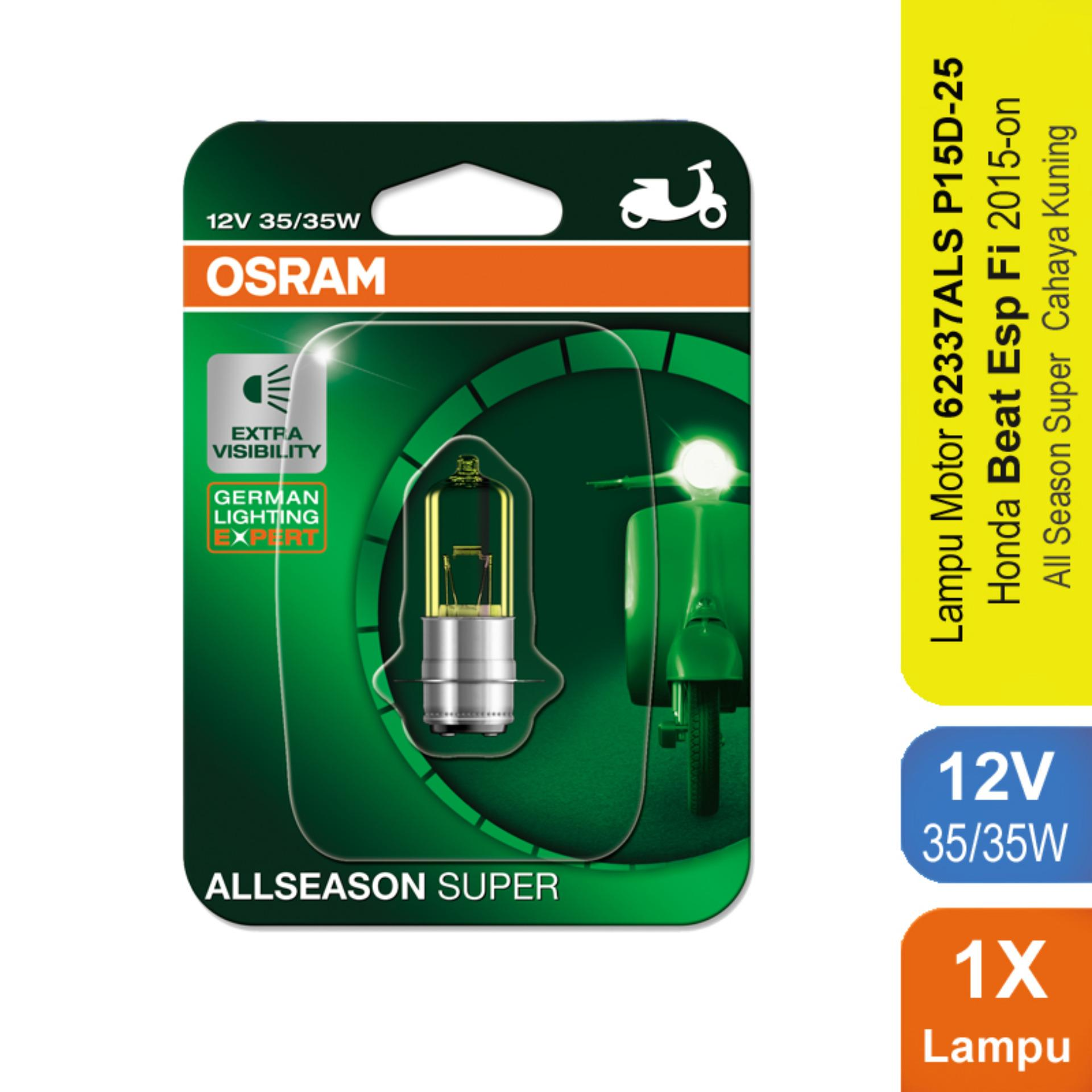 Osram Lampu Depan Motor Honda Beat Esp Fi 2015-on - 62337ALS - All Season Super