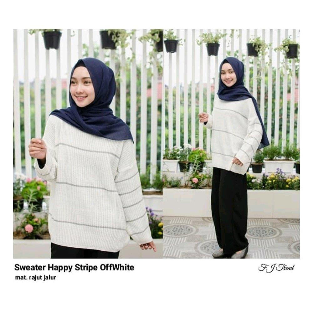 Features Mode grosir Sweater Crop Strip Lengan Strip Putih Dan Harga ... f57b8f21fe