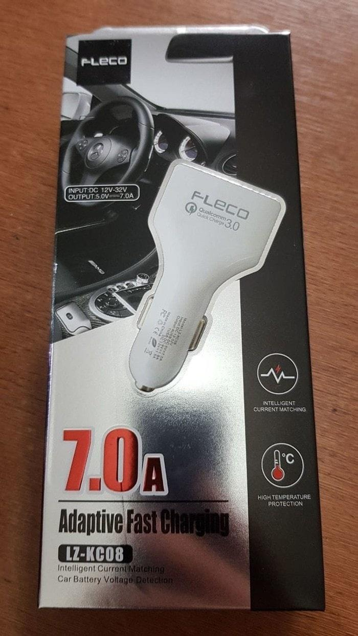 ... Fleco Car Charger Colokan Mobil Fast Charging Qualcomm Charging 3.0 - 4 Port USB Total output ...