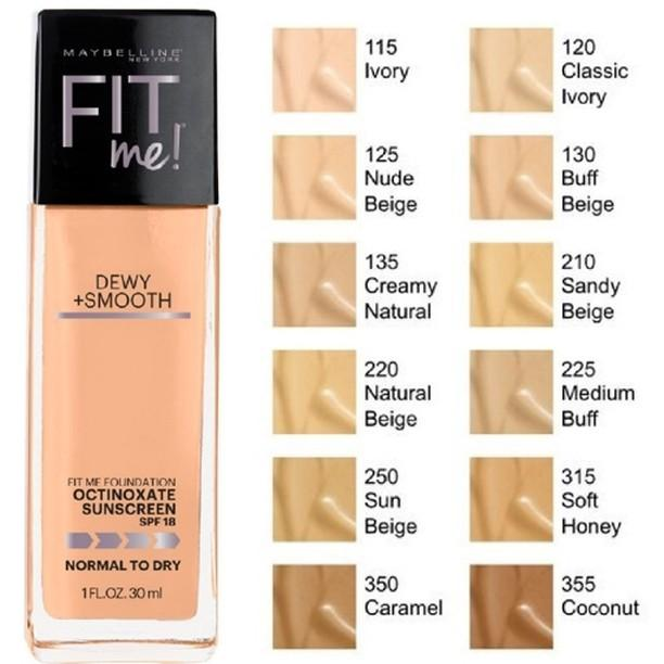 MAYBELLINE FIT ME DEWY + SMOOTH FOUNDATION 130 BUFF BEIGE