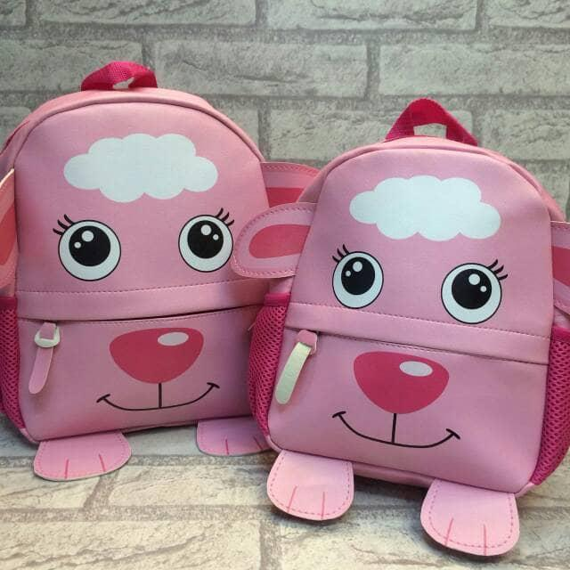 Tas Ransel Fashion Anak Backpack Anak Kulit Domba Sheep