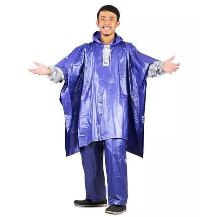 Jual Jas Hujan Poncho Lengan Celana Plevia Nautilus 734 Batman Ponco Biru Plevia Grosir