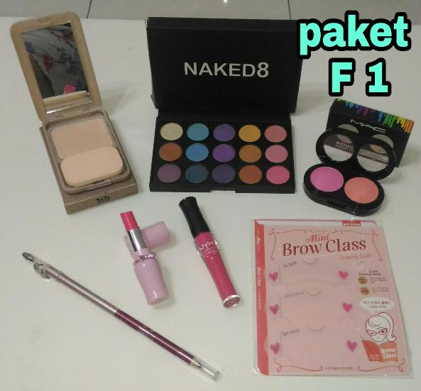 PROMO - Paket kosmetik F / eyeshadow / mascara / wardah / blush on / bedak