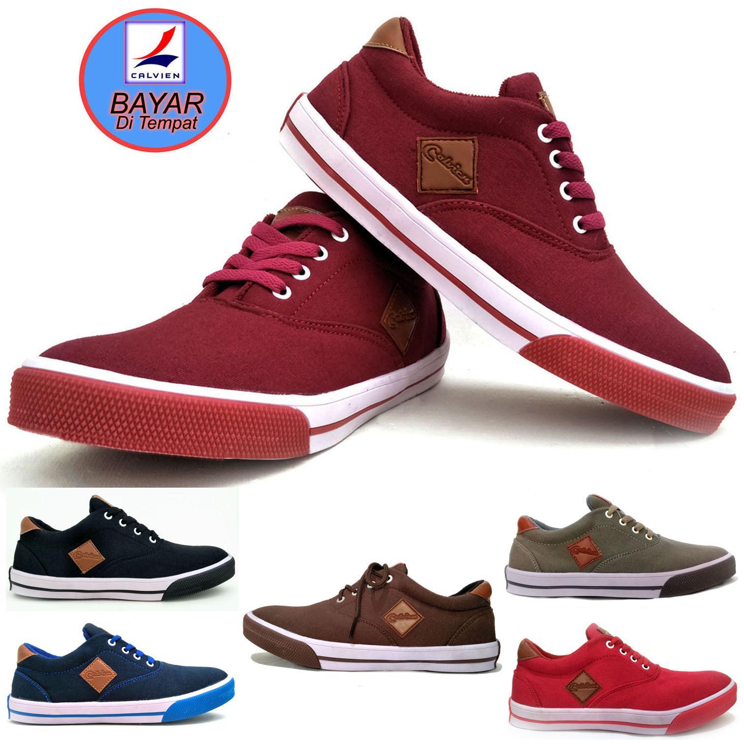 Beli Calvien Sepatu Pria Sneakers Sepatu Pria Kets Sepatu Pria Kasual Sepatu Pria Murah Kode Cl 01 Kredit