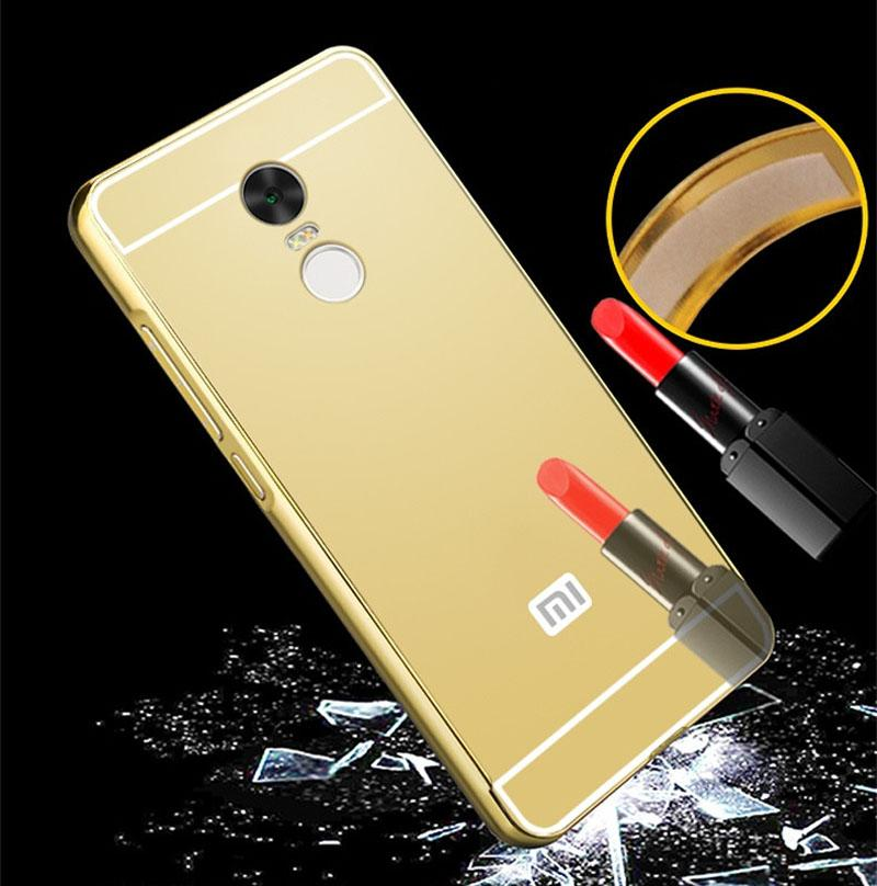 ... Case Mirror for Redmi Note 4 (Mediatek) Metal Bumper Sliding Casing - 3 ...