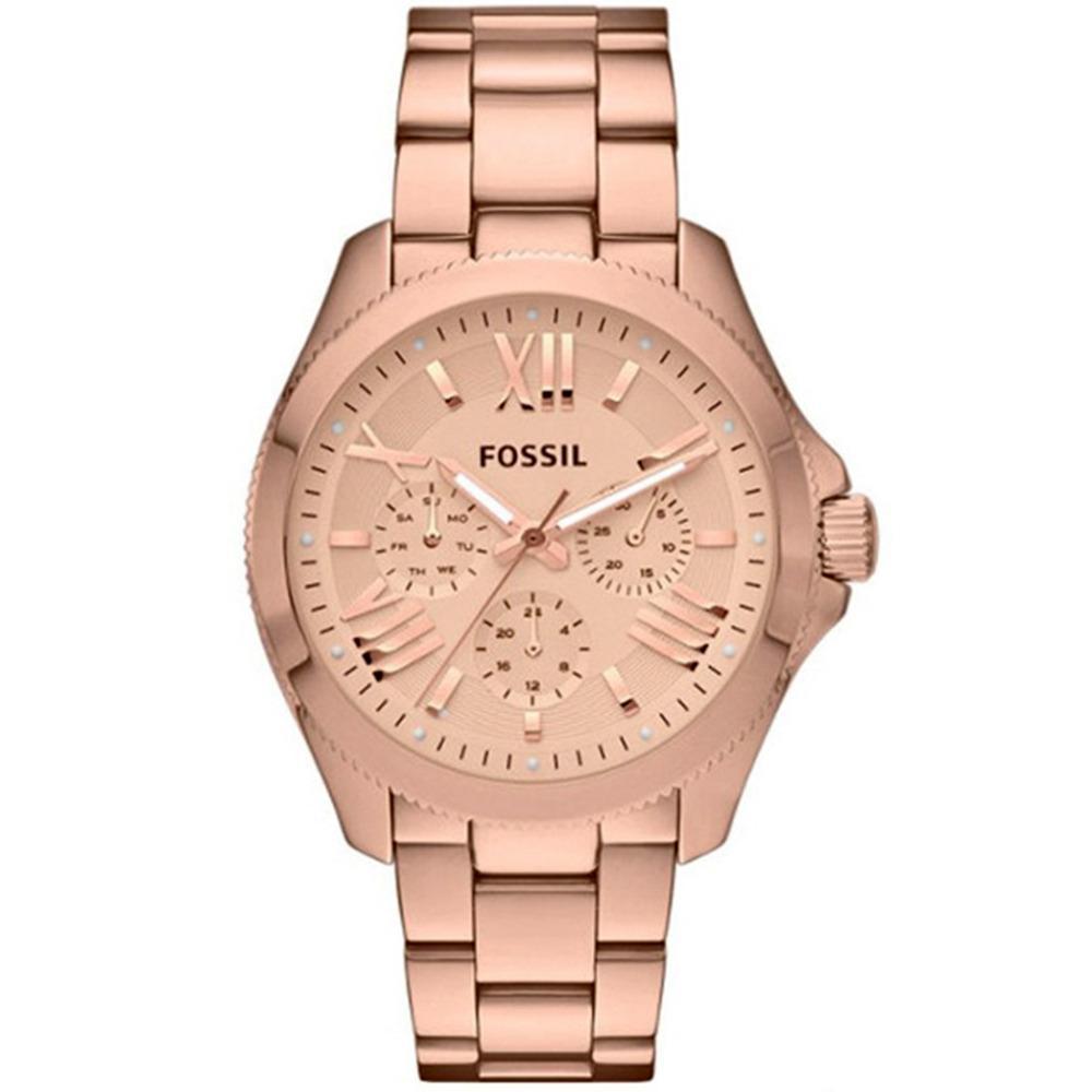 Harga Fossil Cecile Chronograph Jam Tangan Wanita Rosegold Stainless Steel Am4511 Watch