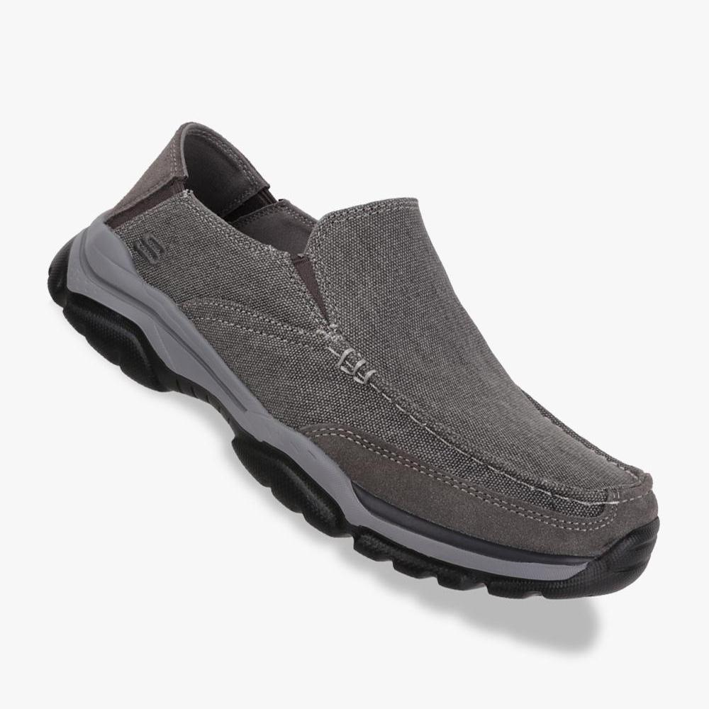 Skechers Relaxed Fit: Rovato - Veleno Men's Leisure Shoes - Abu-Abu