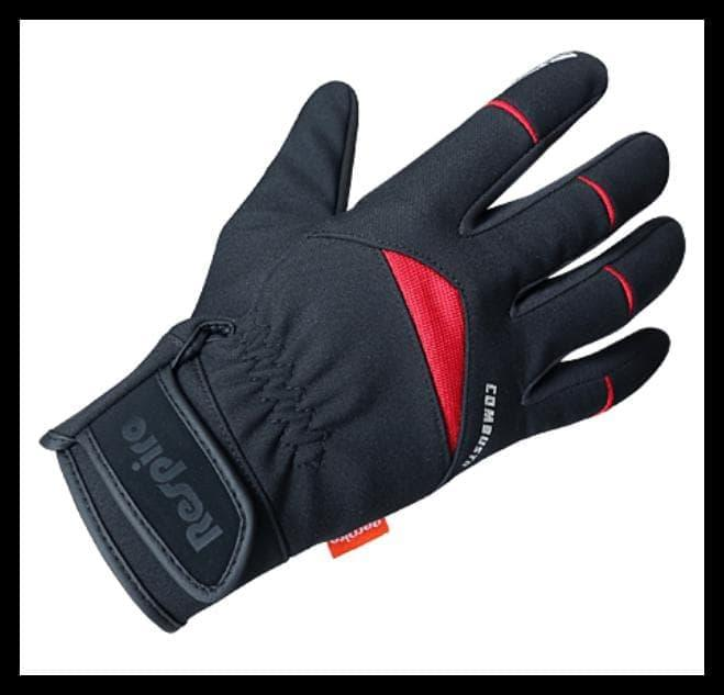 Sarung Tangan Respiro Combusto Black Red Safety Biker Full Glove