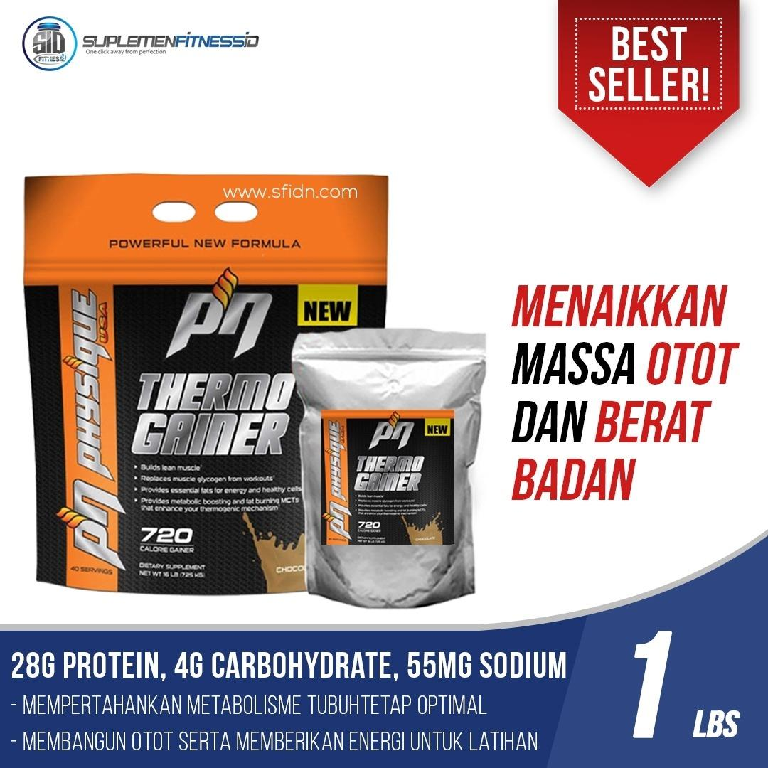 Harga Gainer Physique Nutrition Thermo Gainer Eceran Repack 1 Lbs Baru