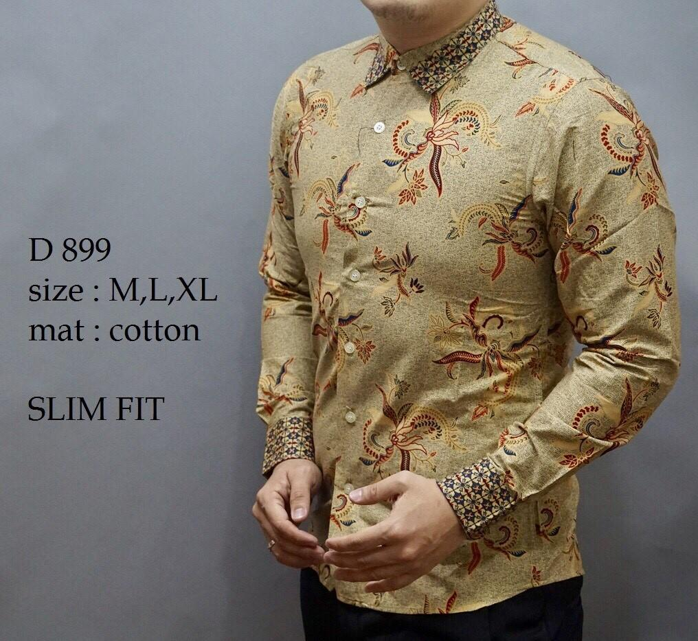 Fitur Baju Batik Slimfit Pria Kerenkemeja Modern Dan Harga A7836 Kemeja Model Terbaru