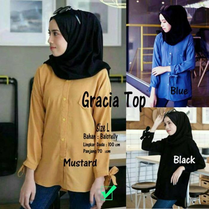 Atasan Wanita Gracia Top Blouse Tunik Baju Muslim Blus Muslim