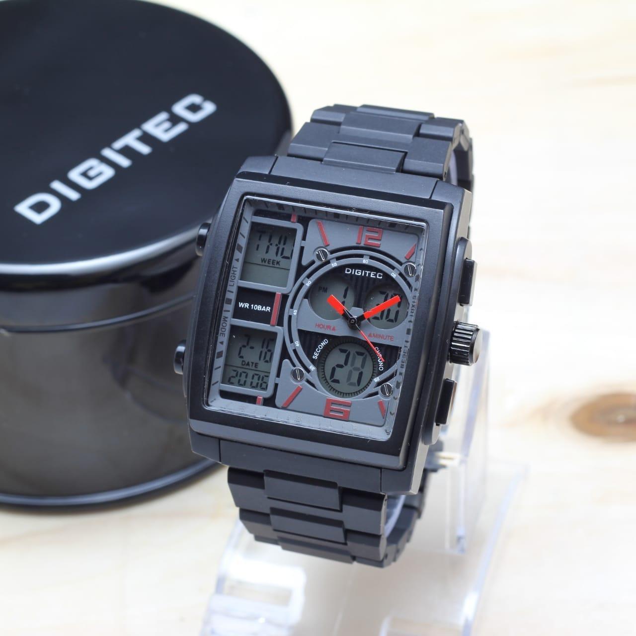 Digitec Jam Tangan Sport Dual Time Digital DG3062 Square Original - 3 .