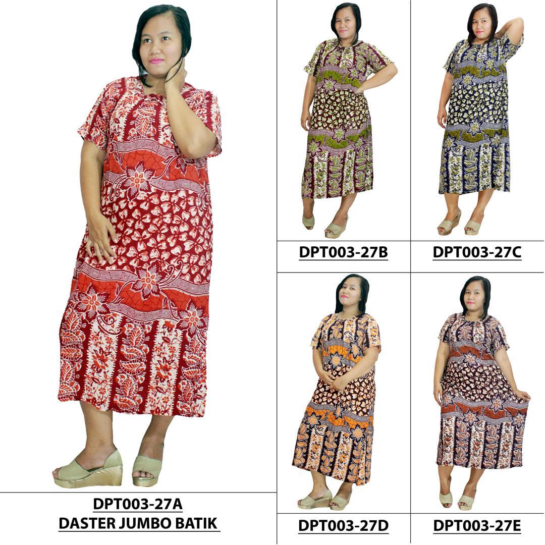 Harga Daster Jumbo Lengan Pendek Batik Baju Tidur Piyama Ukuran Dpt003 27
