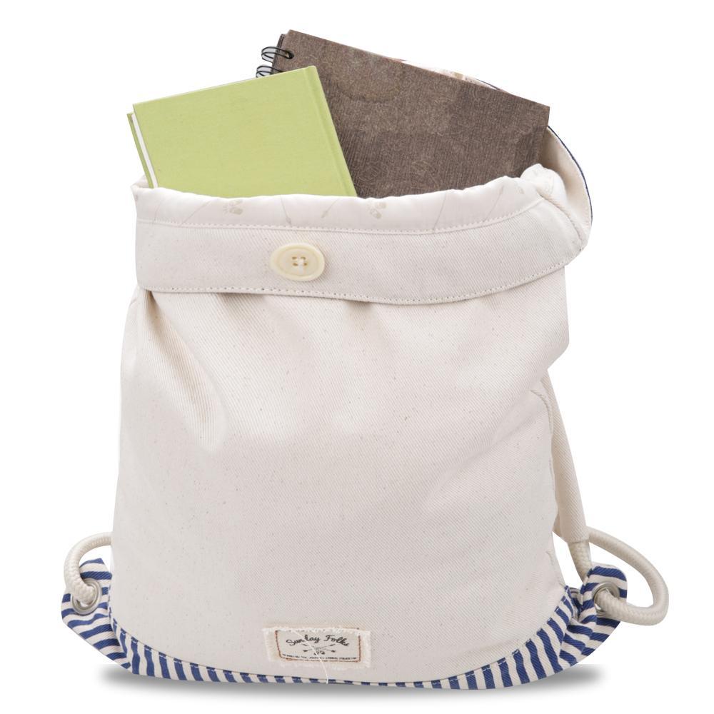 ... Exsport Away Drawstring Bag - Cream - 4 ...