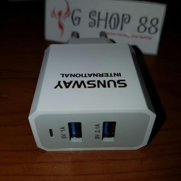 Batok Charger For Sunsway 2,1 A 2 USB Kepala Only Kualitas Original ORI - Bisa Untuk Xiaomi Redmi Note 2 3 4 Max Redmi 1 1s 2 2A 3 3S Pro 4A 4 Prime 4X 5 Mi 1 1S Mi 2 2S Mi 3 Mi 4 4i 4c 4s Lenovo A2020 A1000 A7000 A6600 A6000 A5000 K800 K900 VIBE SHOT
