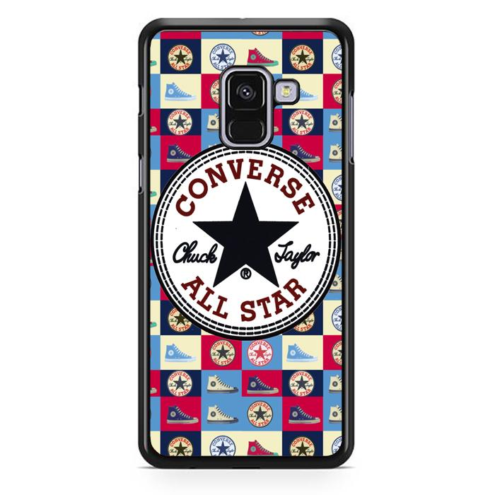 Casing Hardcase Samsung Galaxy A8 Plus 2018 Motif Converse W3050