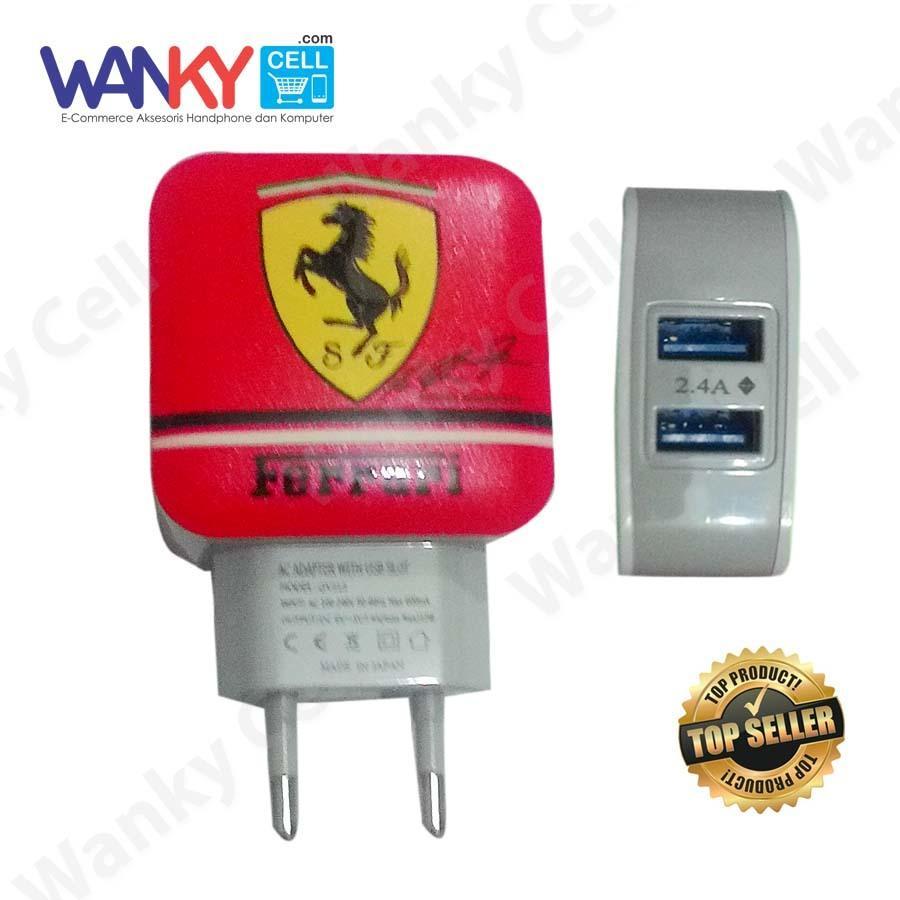 Wanky Charger Karakter Dual Output USB 2.4A - Merah