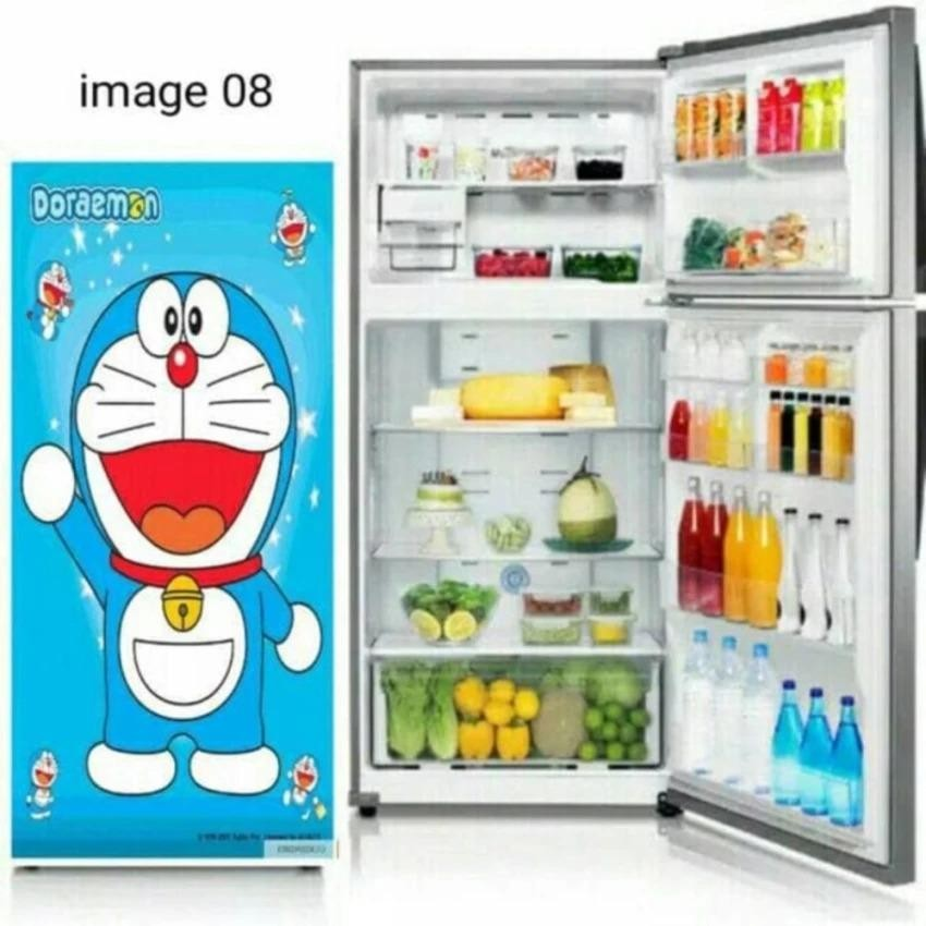 Wallpaper Kulkas 1 Pintu Karakter Doraemon A J S Wallpaper Sticker Diskon 50
