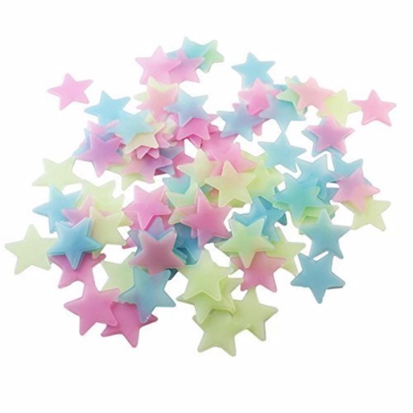100pcs Wall Decor Stars - Glow in the Dark - Hiasan Dinding Berbentuk Bintang