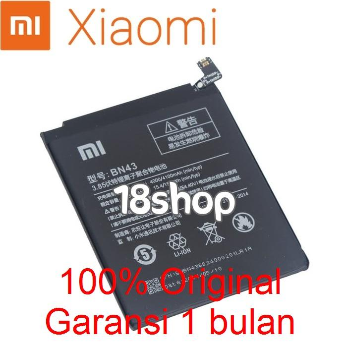 Baterai Battery Batre Xiaomi Redmi Note 4X BN43 Original. Battery Xiaomi Redmi Note 4X BN43