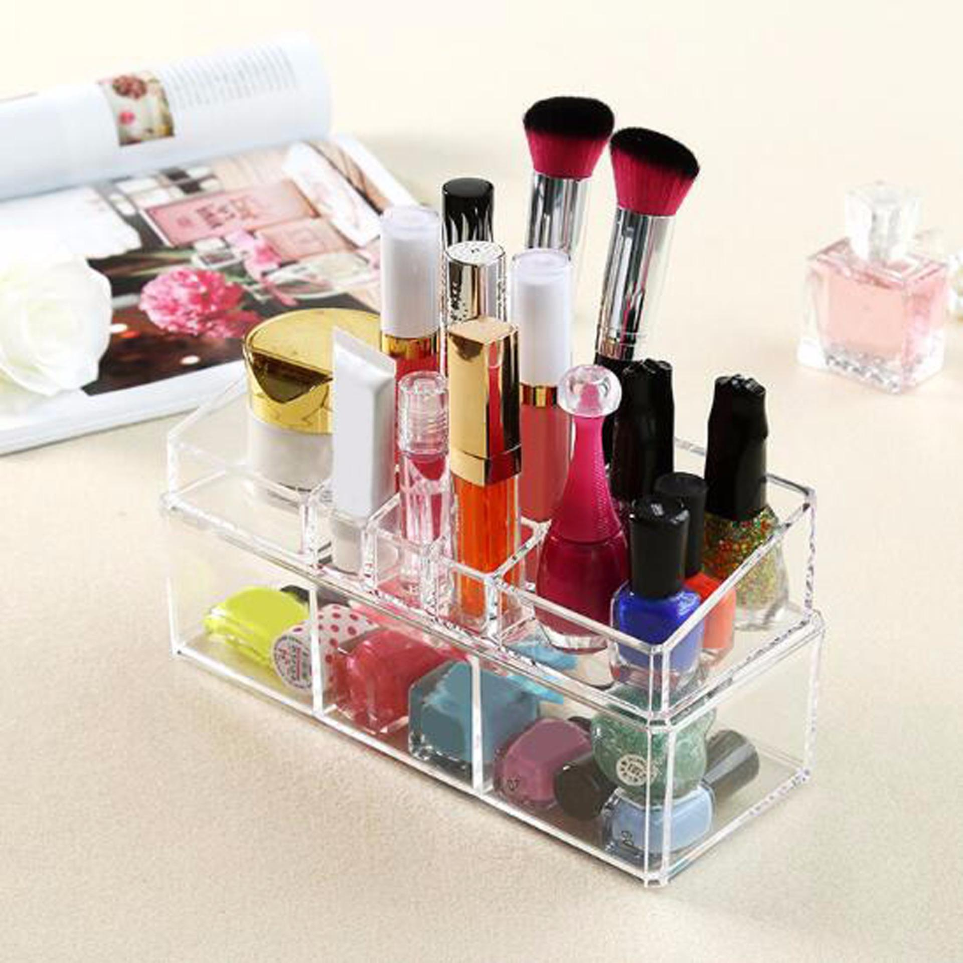 Rak Kosmetik Acrylic 01 - Tempat Penyimpanan Peralatan Kosmetik