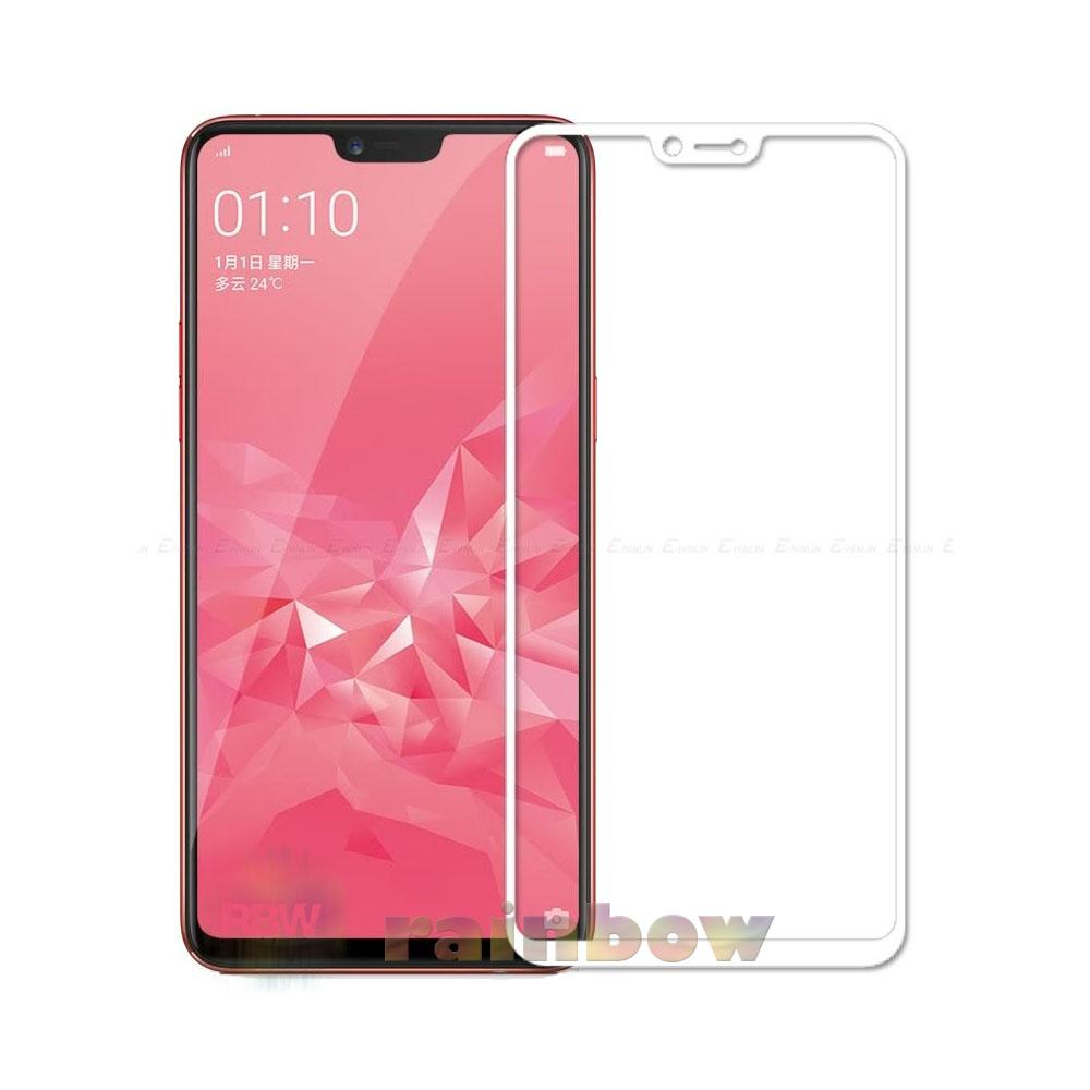 Rainbow Tempered Glass Oppo A3s Full Screen Protector Oppo A3S White Temper Oppo A3s / Tempered