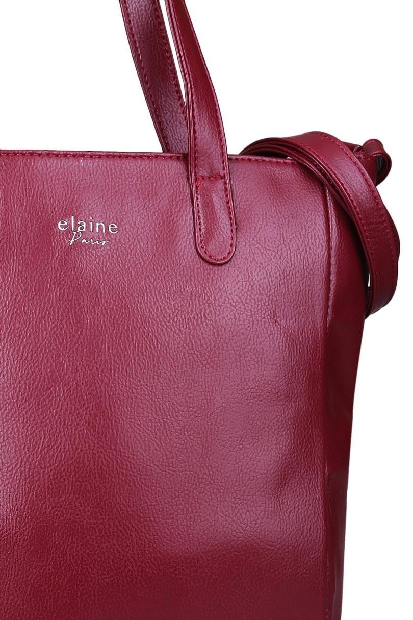 Tas Wanita Tote Bag Wanita Kasual Elaine 32MR005511 - Maroon - 4