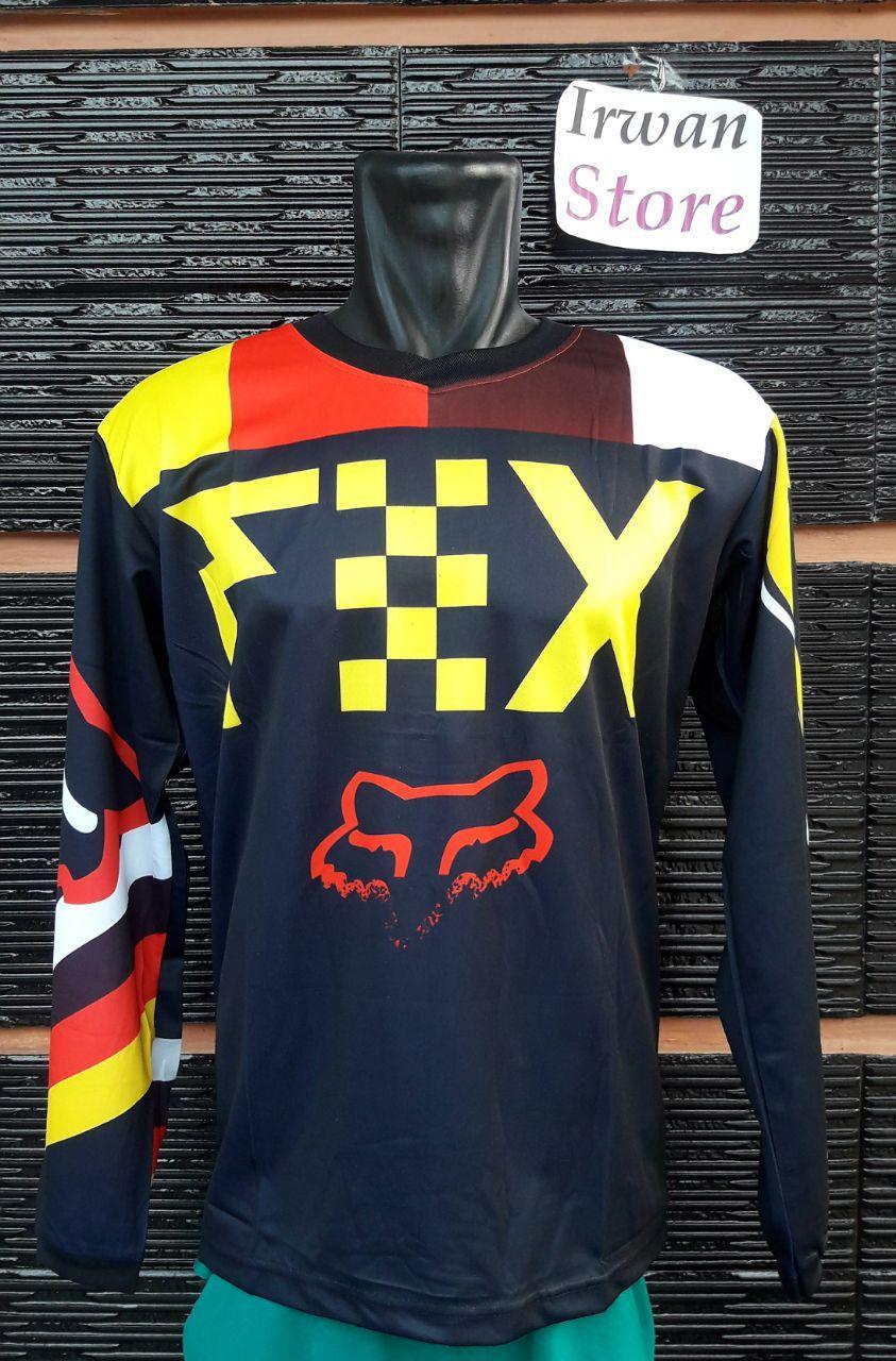 Kelebihan Baju Jersey Sepeda Fox F08 Motor Cross Terkini Oneal Biru Merah Downhill Lengan Panjang
