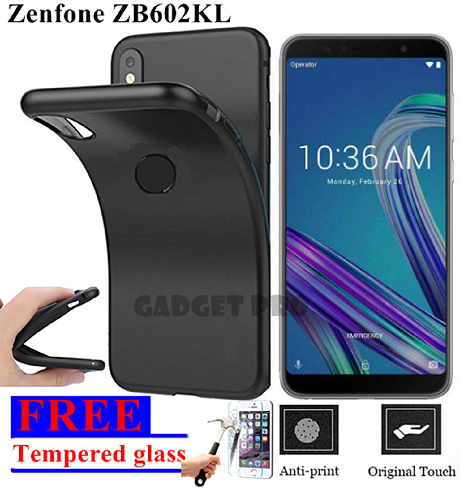 Softcase Silicon Ultrathin for Asus Zenfone Max Pro M1 ZB602KL ZB601KL SLIM MATTE BLACK FREE